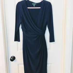 Navy Blue Lauren Ralph Lauren Dress Size 10